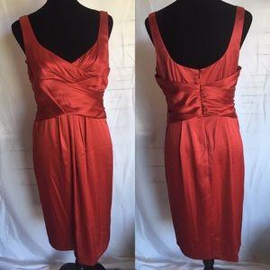 NWT Jones Wear cocktail dress red satin 10